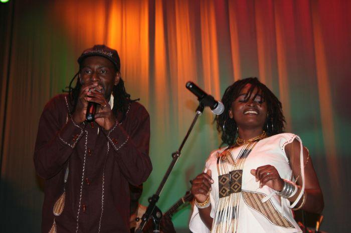 Saintrick & Sassy, unis sur la scène...