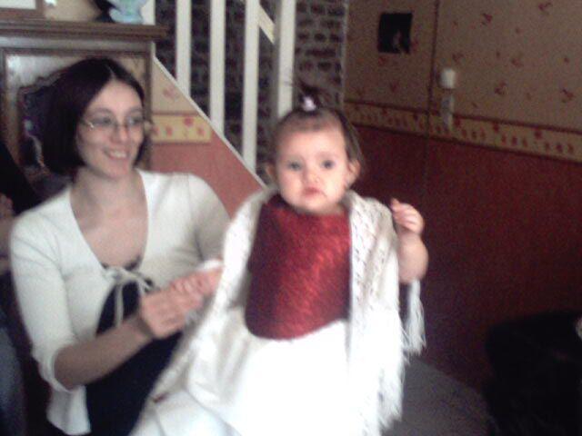 ma fille et sa fille le jour de son bapteme
