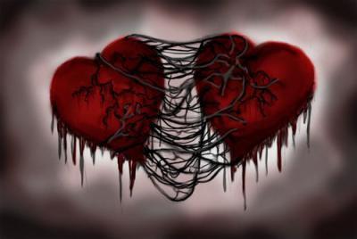 deux coeurs amoureux et pourtant si triste