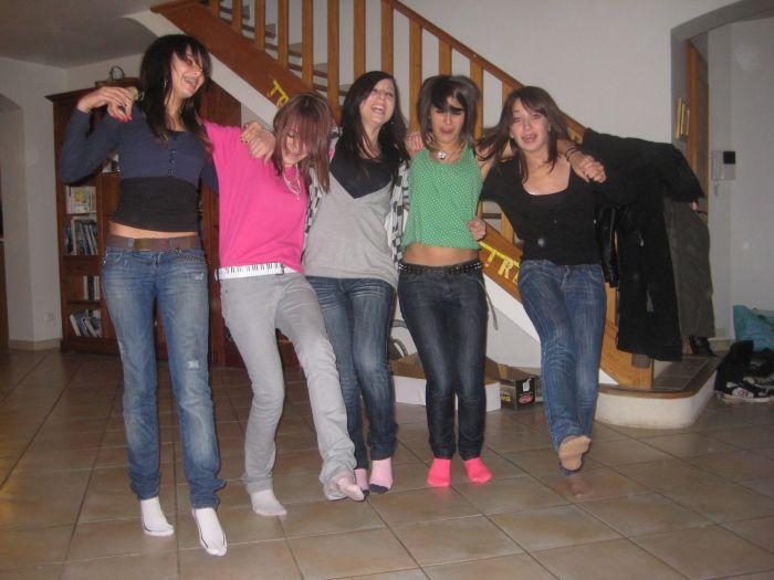 Dans l'ordre: Estelle, Moi, Anais, Astrid & Emilie
