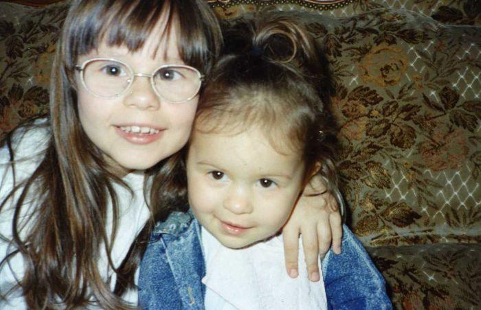 ma soeur et moi pitite )à