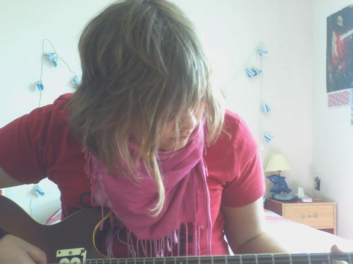 je fais de la guitare <3