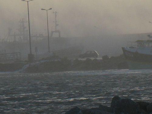 tempête 08 dans mon port en bretagne