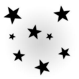 Etoiles noires et blanches