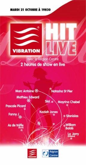 Affiche Concert Vibration HIT LIVE 21/10/2008