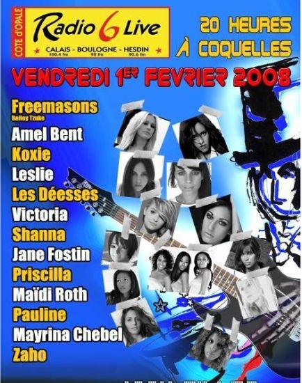 Affiche Concert Radio6 01/02/2008
