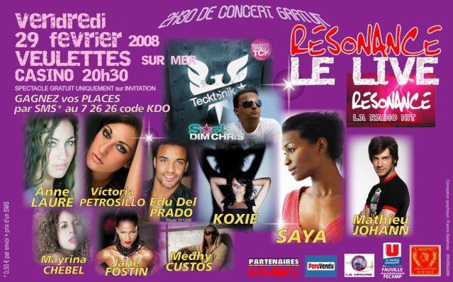 Affiche Concert Resonance 29/02/2008