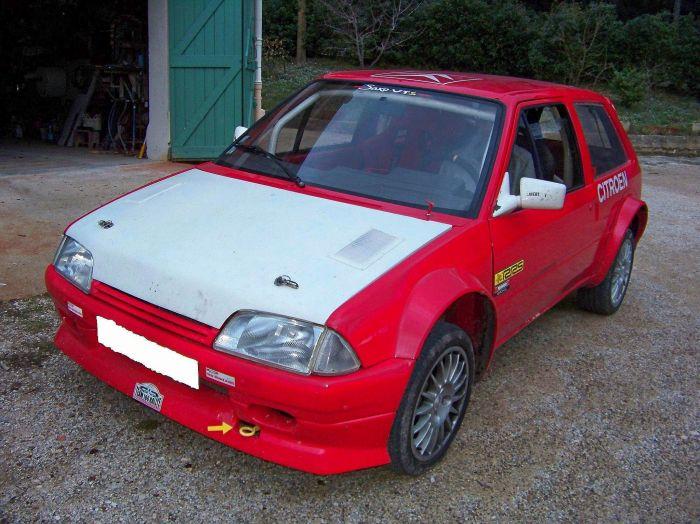 La voiture de rallye de mon cousin : AX Sport