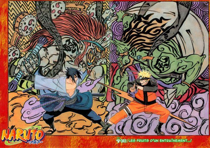 sasuke et naruto, le combat