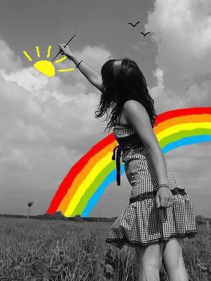 mettre des couleurs dans ce monde si noir...