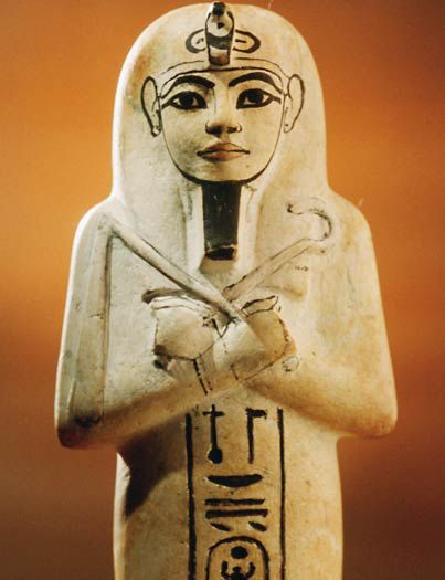 Limestone Shabti of Tutankhamun