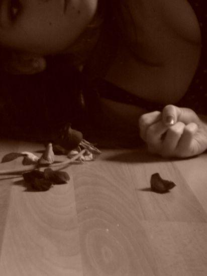 Quand je vais mal .. ma fleur fane ..