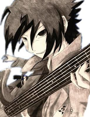 Sasuke Uchiha à la Guitare   CooL La Zik