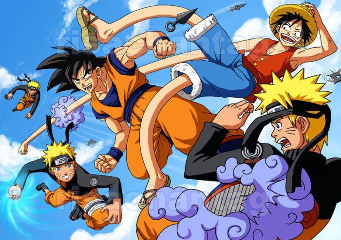 Monkey D. Luffy vs Uzumaki Naruto vs Sangoku