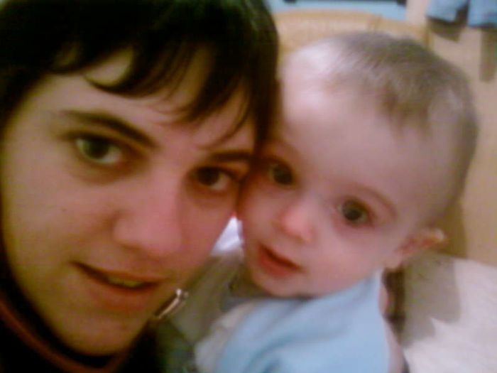 moi et mon filleul la veille de ses un an