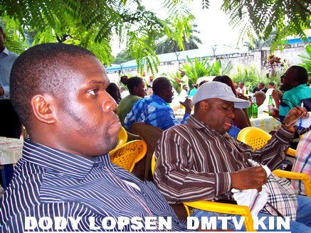 DODY LOPSEN Lors d'un cocktail au siège de DMTV KIN