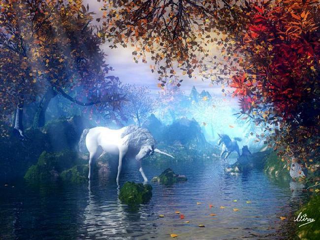 lindo el unicornio blanco.