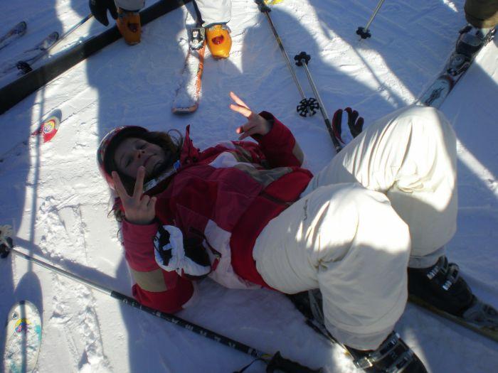Ma meilleure amie au ski (a) :P