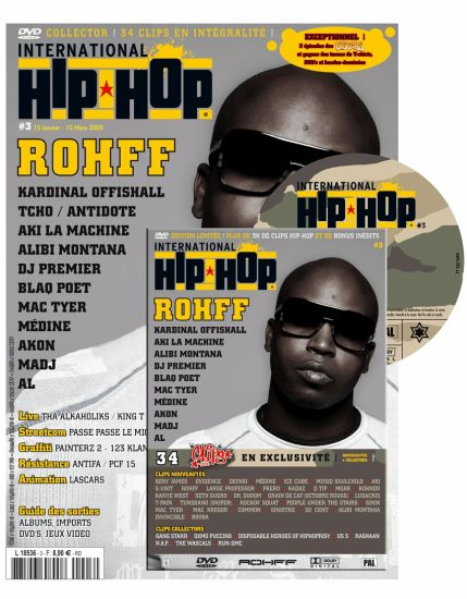 INTERNATIONAL HIP-HOP 3, MAG & DVD EN KIOSQUE MI JANVIER !!