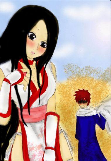 Kin en cosplay de Kasumi ^^