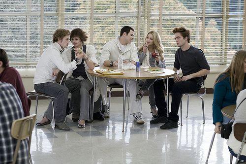 Cafétéria du lycée de Forks