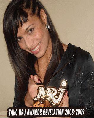 Zaho nommée révélation de l'année au Nrj Music Awards
