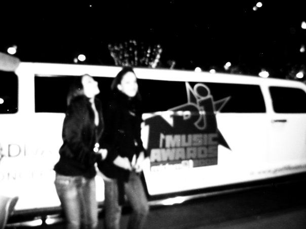 Honey and Me in front of the hummer of NRJ.