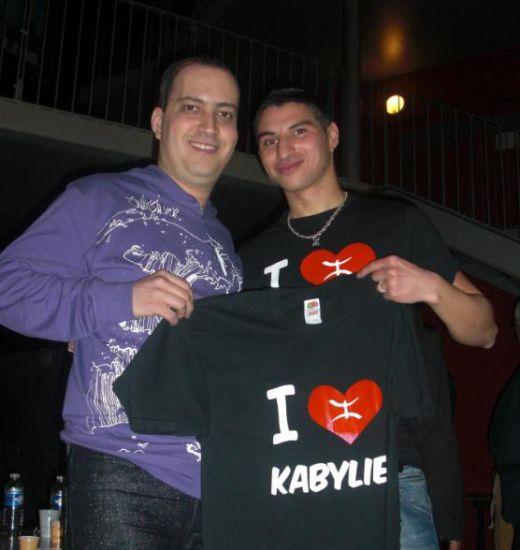 Allaoua et Lounes : t shirt I love Kabylie