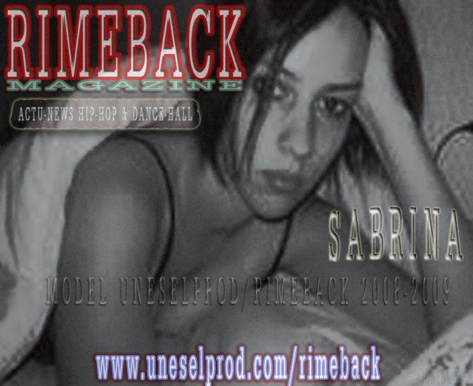 "SABRINA ""RIMEBACK"" WEB-MAGAZINE www.myspace.com/rimeback"