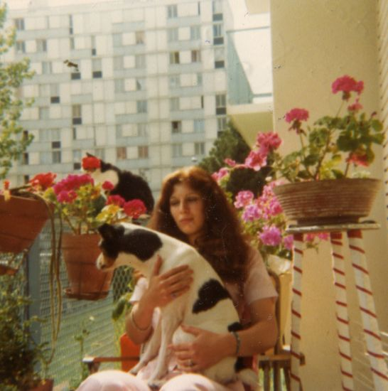 sur mon balcon 4 allée antoine condorcet mon chien Dicky