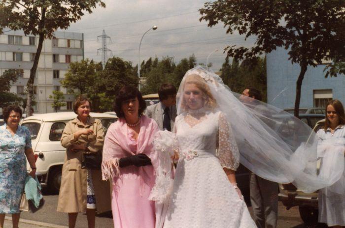 mon mariage beau jour du 5 juillet 1980 sur le parking