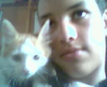moi au mon chat