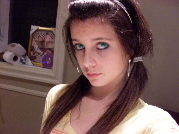moi & les yeux bleu !
