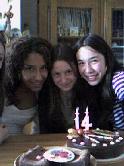 mes amies et moi qui avons fêtées nos 14 ans l'année dernièr