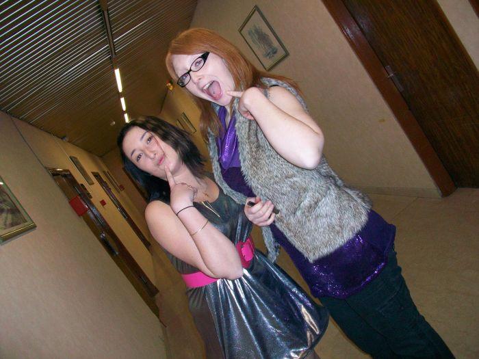mes chéries en mode disco..shirley & mélissa.
