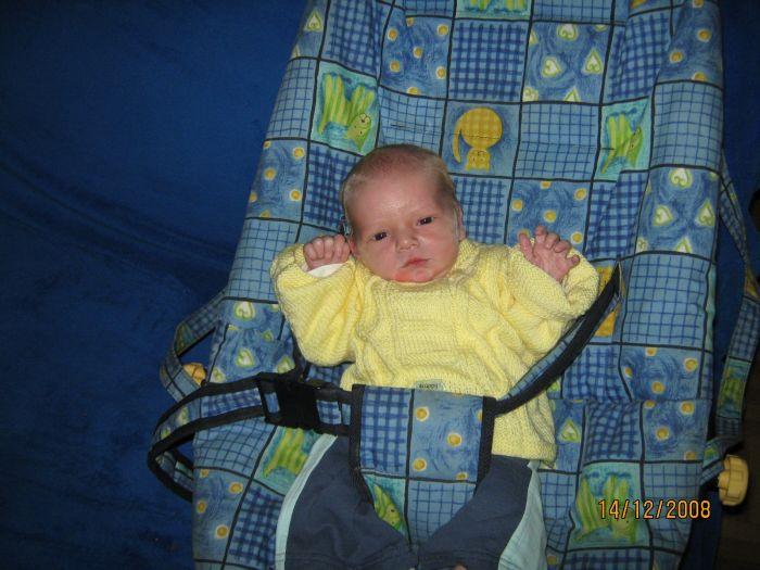 mon fils de retour de la maternité