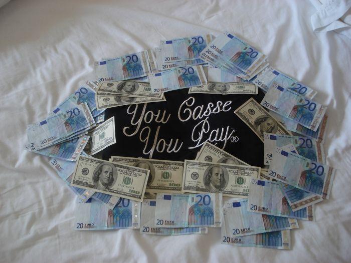 en euro ou en dollars en vacance you casse you pay