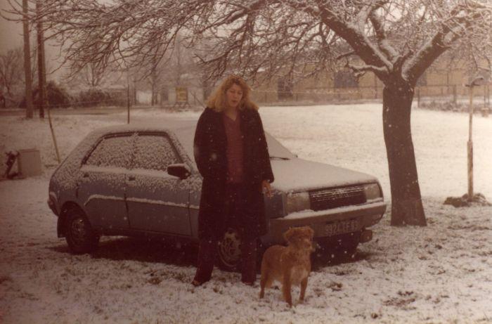1981 sur la route de CASTRES avec belle