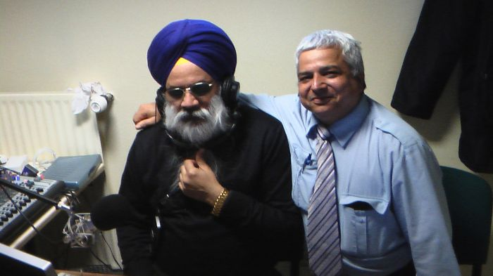 S.Shingara Singh Ji Mann MD Panjab Radio France with Nagpal