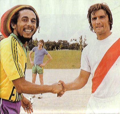 Bo marley et Henri Michel capitaine FC nantes 1970