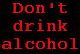 don't alcool