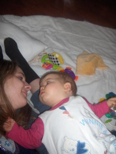 moi et me petite cousine manon quand elle était encore bébé