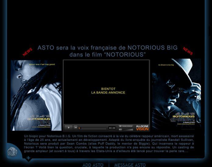 """asto est la voix de  biggie dans le film """"NOTORIOUS"""""""