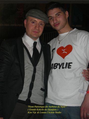 Moi et lounes l 'acteur lors de mon concert du 4 janv 2009