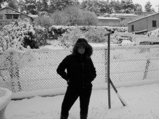 Moi Sous La Neige Mdr
