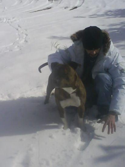 Grand plez avec mon staff (VENKY) dans la neige .