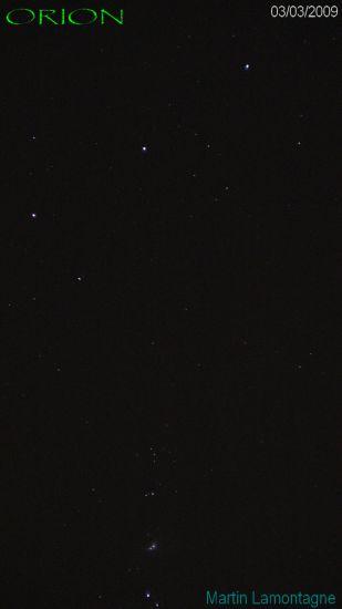 ceinture et nébuleuse de Orion