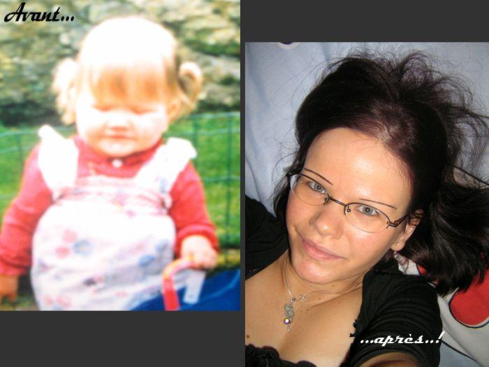 22 ans de différence  entre les 2 photos ;o)