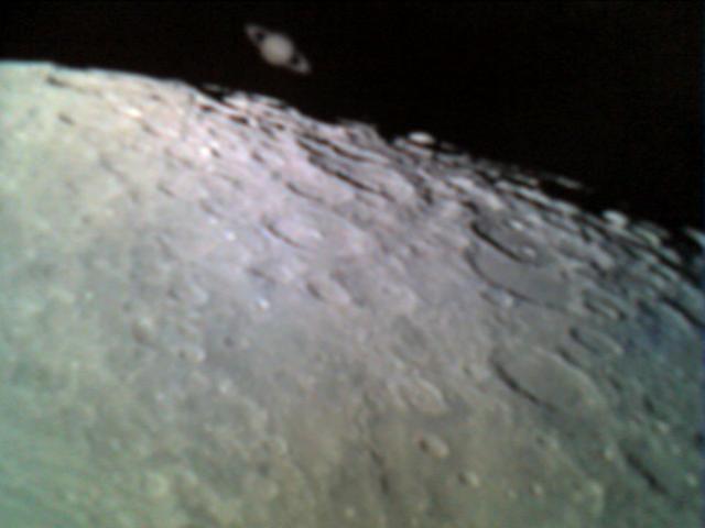 Occultation de Saturne par la lune