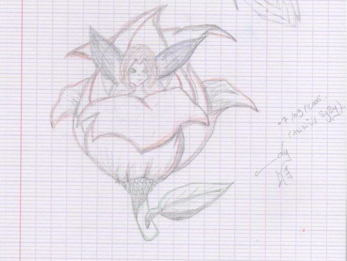 Mes dessins : Fée fleur